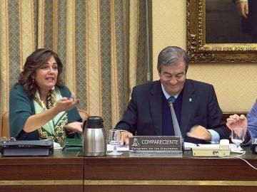 El exsecretario general del PP Francisco Álvarez Cascos, durante su comparecencia ante la Comisión de Investigación