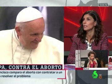 El papa Francisco y Raquel Ejerique