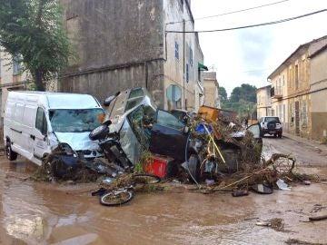 Aspecto que presentaba hoy una calle de la localidad de Sant Llorenç des Cardassar