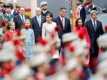 Imágenes de archivo del desfile del 12 de octubre