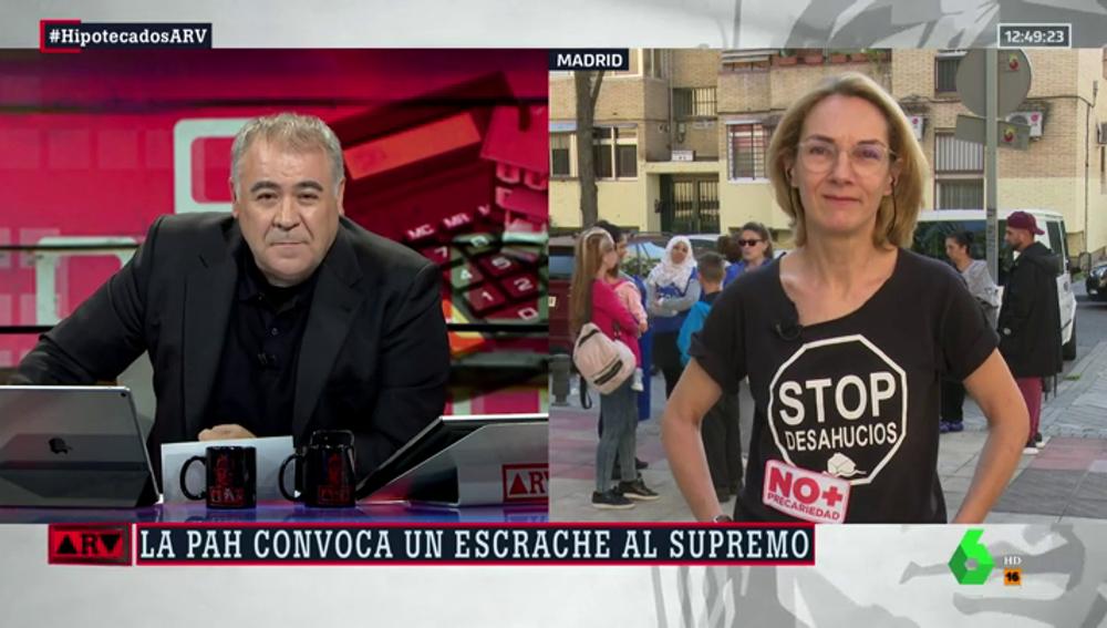 """Mercedes Revuelta, sobre la manifestación de este miércoles ante el Supremo: """"Los bancos se nos van de rositas con sus múltiples estafas"""""""