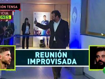 Noticia Jugones: Reunión tensa de Sergio Ramos con José Ángel Sánchez tras el partido ante el Viktoria Plzen