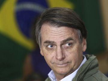 Jair Bolsonaro en una área militar en la zona norte de Río de Janeiro