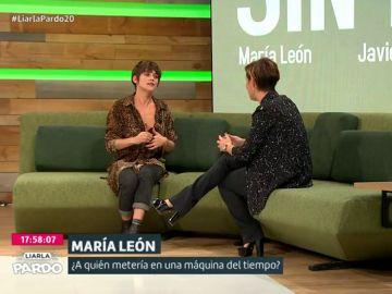 La actriz María León