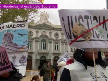 Protestas a las puertas del Tribunal Supremo