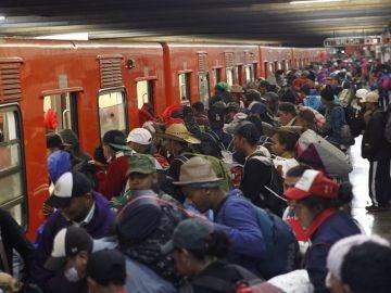 Imagen de la caravana de migrantes