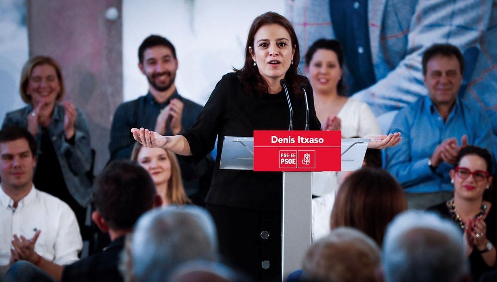 La vicesecretaria general del PSOE y portavoz en el Congreso, Adriana Lastra.
