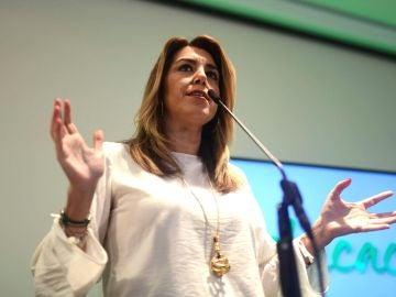 La secretaria general del PSOE de Andalucía, presidenta de la Junta y candidata a la reelección, Susana Díaz