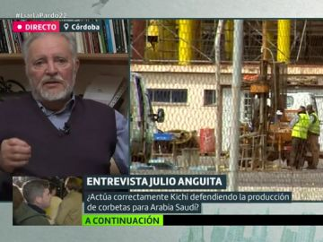 """Julio Anguita: """"Yo no permitiría la construcción de corbetas, pero protestaría con los trabajadores para que crearan nuevos puestos"""""""