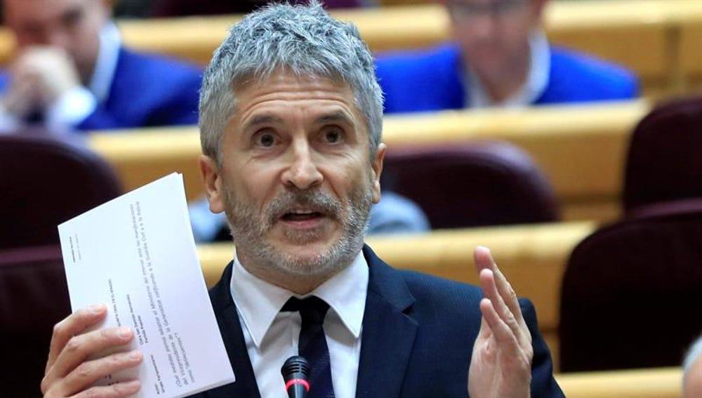 Foto de archivo del ministro del Interior, Fernando Grande-Marlaska, en el Senado