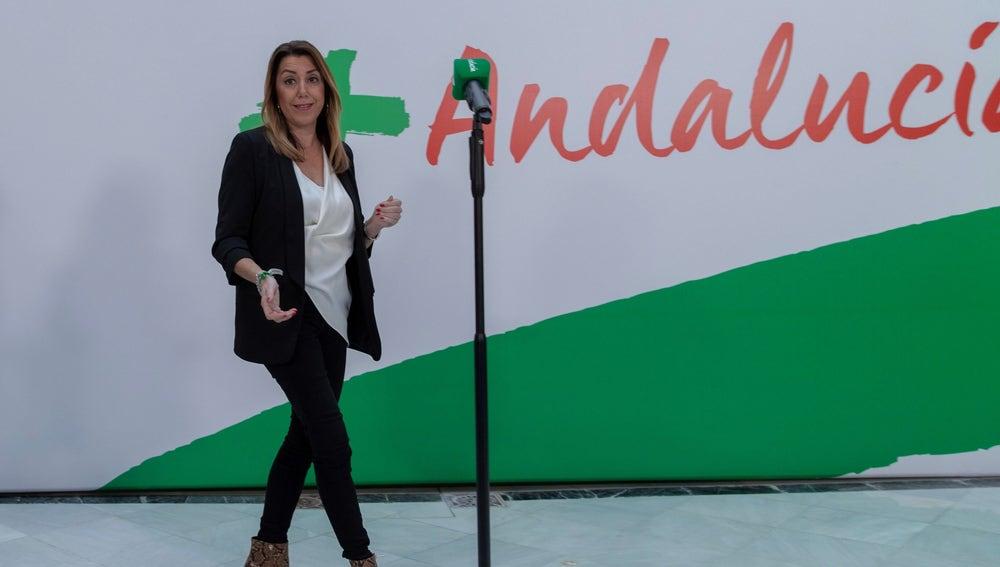 La presidenta andaluza en funciones y secretaria general del PSOE-A, Susana Díaz