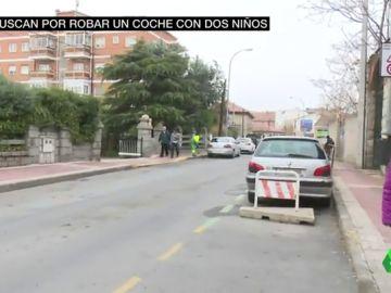 Un hombre roba un coche con dos niños en su interior en un colegio de Collado Villalba, Madrid