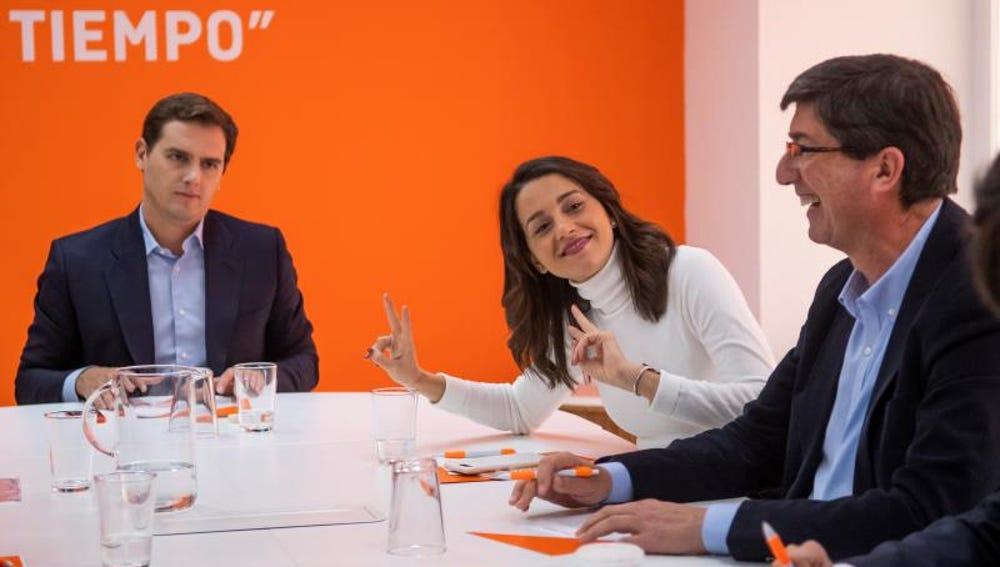 Albert Rivera, Inés Arrimadas y Juan Marín
