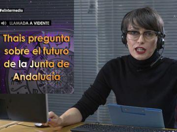 """Thais Villas consulta a una vidente sobre el futuro de Andalucía: """"Las cartas dicen que la Junta va a cambiar de jefa"""""""