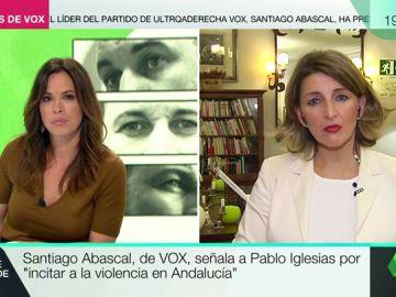"""Yolanda Díaz (En Marea): """"Las mujeres no vamos a volver a vivir como en el franquismo"""""""