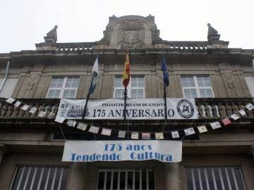 Fachada del Instituto decano Lucus Augusti en Lugo, Galicia.
