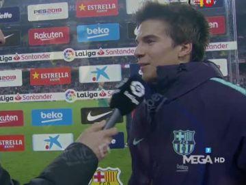 Riqui Puig tras su debut con el Barça
