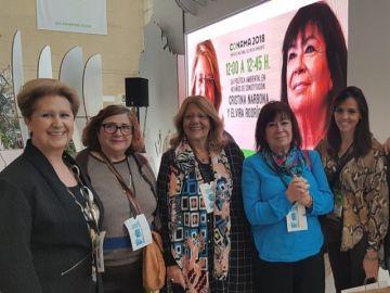 Representantes del proyecto en el Congreso Nacional del Medio Ambiente