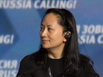 Imagen de la directora financiera de Huawei, Wanzhou Meng