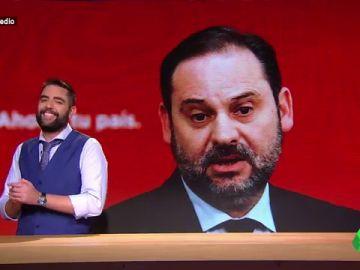 Dani Mateo dice que Ábalos es el Ricky Martin de la Política