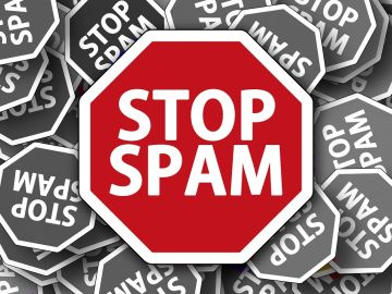 Imagen contra el acoso publicitario y el spam