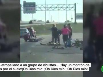 """La desgarradora llamada de una conductora tras atropellar a 14 ciclistas en Florida: """"¡Dios mío! Hay un montó de ellos en el suelo"""""""