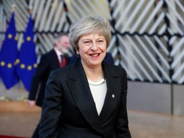 Theresa May, en Bruselas