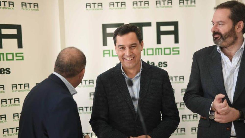 El candidato del PP a la Presidencia de la Junta de Andalucía, Juanma Moreno