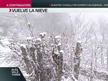 Las sorprendentes imágenes que dejan las nevadas tras la llegada de la borrasca Flora