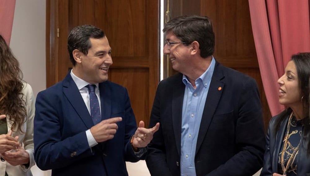 Juanma Moreno y Juan Marín