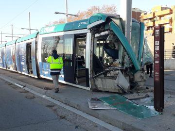 Accidente de tranvía en Barcelona