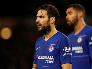 Cesc Fàbregas en un partido con el Chelsea