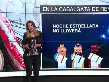 Isabel Zubiaurre nos adelanta qué tiempo hará en la Cabalgata de Reyes