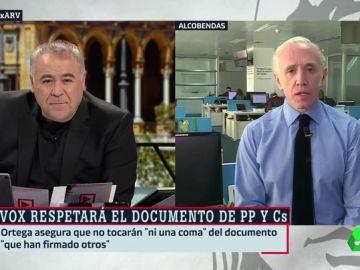 """Eduardo Inda: """"Juanma Moreno será el presidente de la Junta de Andalucía y Juan Marín, el vicepresidente"""""""