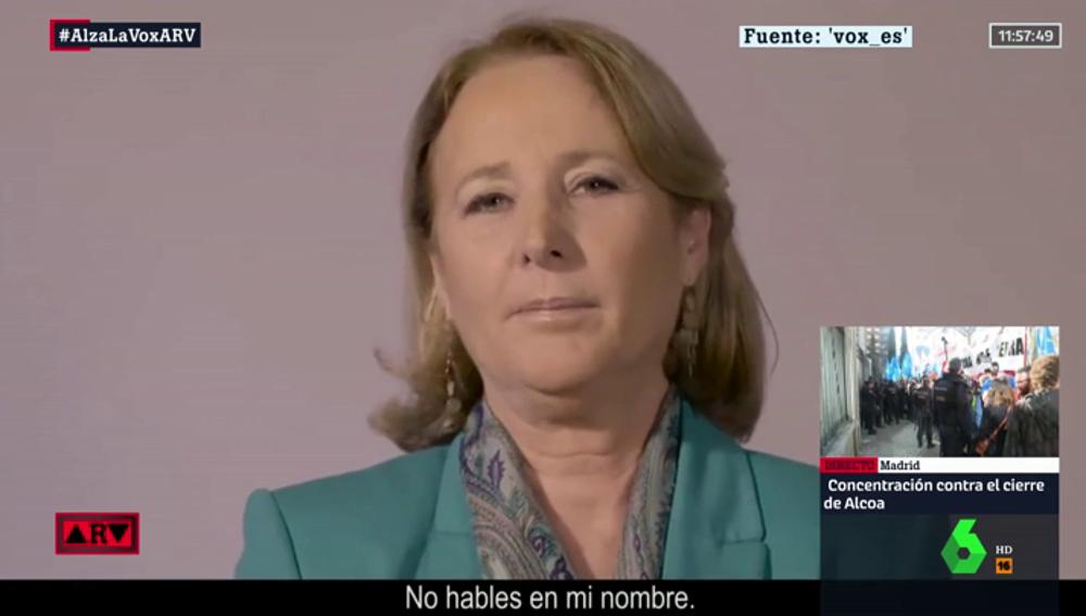 """Fragmento del vídeo de Vox contra el """"feminismo radical"""""""