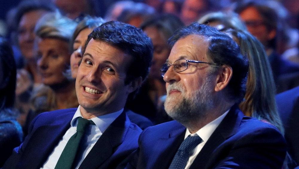 Pablo Casado y Mariano Rajoy