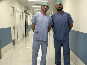 Diego González Rivas, a la izquierda.