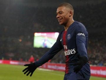Mbappé, con el PSG