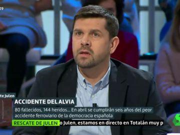 Jesús Domínguez, presidente de la Plataforma de las Víctimas del Alvia de Santiago,