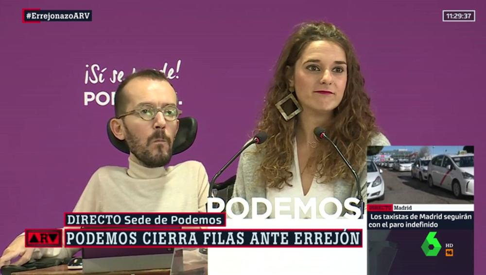 Pablo Echenique y Noelia Vera