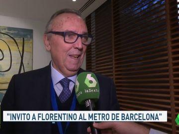 """Joan Gaspart, un afectado más por la huelga de taxis: """"Me gustaría ver a Florentino en el metro de Barcelona"""""""