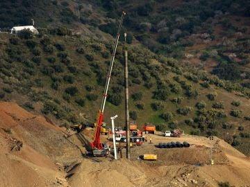 Imagen de las labores de rescate de Julen en Totalán