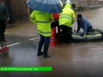 Las fuertes lluvias inundan Navarra, País Vasco y Cantabria