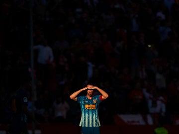 Diego Godín, durante un partido con el Atlético de Madrid