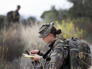 Foto de archivo de una soldado