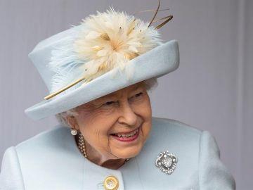 Imagen de archivo de la reina Isabel II de Inglaterra.