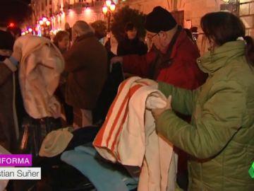 Evento solidario para dar comida y mantas a personas sin hogar