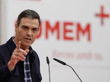 Pedro Sánchez durante un acto del PSOE en Valencia