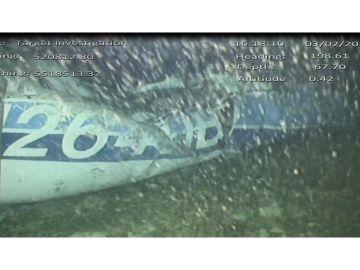 Los restos hallados del avión donde viajaba Emiliano Sala