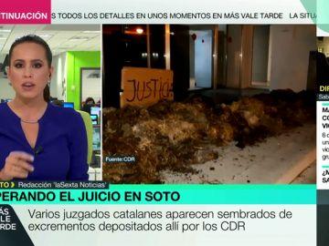 Excrementos en los juzgados catalanes